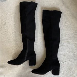 Cole Haan Black Suede Knee Boots - size 8